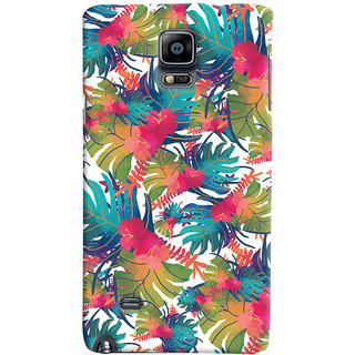 Oyehoye Samsung Galaxy Note 4 Mobile Phone Back Cover With Colourful Abstract Art - Durable Matte Finish Hard Plastic Slim Case