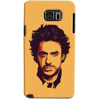 Oyehoye Samsung Galaxy Note 5 Mobile Phone Back Cover With Robert Downey Jr. - Durable Matte Finish Hard Plastic Slim Case