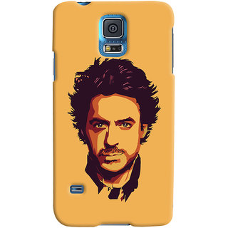 Oyehoye Samsung Galaxy S5 Mobile Phone Back Cover With Robert Downey Jr. - Durable Matte Finish Hard Plastic Slim Case