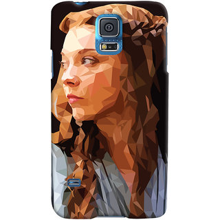 Oyehoye Samsung Galaxy S5 Mobile Phone Back Cover With Low Poly Art - Durable Matte Finish Hard Plastic Slim Case