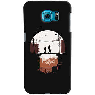 Oyehoye Samsung Galaxy S6 Mobile Phone Back Cover With Travellers Quirky - Durable Matte Finish Hard Plastic Slim Case