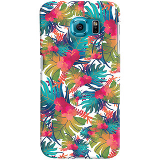 Oyehoye Samsung Galaxy S6 Mobile Phone Back Cover With Colourful Abstract Art - Durable Matte Finish Hard Plastic Slim Case