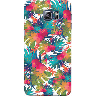 Oyehoye Samsung Galaxy S6 Edge Mobile Phone Back Cover With Colourful Abstract Art - Durable Matte Finish Hard Plastic Slim Case