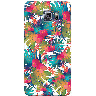 Oyehoye Samsung Galaxy S6 Edge Plus Mobile Phone Back Cover With Colourful Abstract Art - Durable Matte Finish Hard Plastic Slim Case