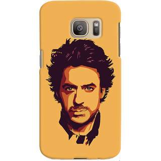 Oyehoye Samsung Galaxy S7 Mobile Phone Back Cover With Robert Downey Jr. - Durable Matte Finish Hard Plastic Slim Case