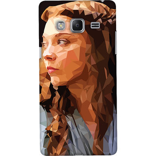 Oyehoye Samsung Galaxy Z3 Mobile Phone Back Cover With Low Poly Art - Durable Matte Finish Hard Plastic Slim Case
