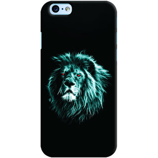 Oyehoye Apple iPhone 6S Mobile Phone Back Cover With Lion Animal Art - Durable Matte Finish Hard Plastic Slim Case