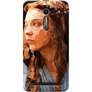 Oyehoye Asus Zenfone 2 Laser ZE550KL / Zenfone 5.5 Mobile Phone Back Cover With Low Poly Art - Durable Matte Finish Hard Plastic Slim Case