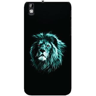 Oyehoye HTC Desire 816 Mobile Phone Back Cover With Lion Animal Art - Durable Matte Finish Hard Plastic Slim Case