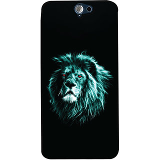 Oyehoye HTC One A9 Mobile Phone Back Cover With Lion Animal Art - Durable Matte Finish Hard Plastic Slim Case