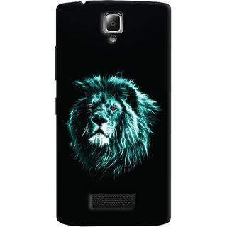 Oyehoye Lenovo A2010 Mobile Phone Back Cover With Lion Animal Art - Durable Matte Finish Hard Plastic Slim Case