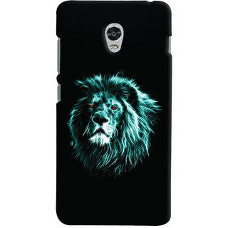 Oyehoye Lenovo Vibe P1 Turbo Mobile Phone Back Cover With Lion Animal Art - Durable Matte Finish Hard Plastic Slim Case
