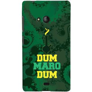 Oyehoye Microsoft Lumia 540 Mobile Phone Back Cover With Dum Maro Dum Quirky - Durable Matte Finish Hard Plastic Slim Case