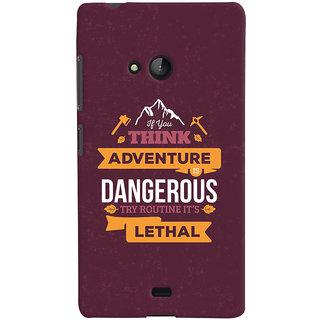 Oyehoye Microsoft Lumia 540 Mobile Phone Back Cover With Motivational Quote - Durable Matte Finish Hard Plastic Slim Case