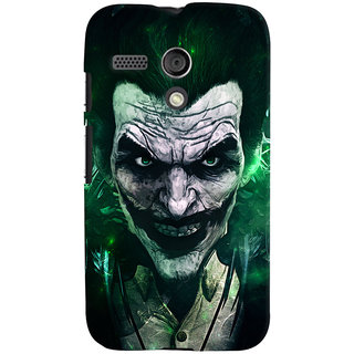 Oyehoye Motorola Moto G Mobile Phone Back Cover With Joker - Durable Matte Finish Hard Plastic Slim Case