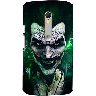 Oyehoye Motorola Moto X Style Mobile Phone Back Cover With Joker - Durable Matte Finish Hard Plastic Slim Case