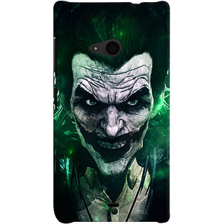 uk availability 3faae 966c7 Oyehoye Microsoft Lumia 535 / Dual Sim Mobile Phone Back Cover With Joker -  Durable Matte Finish Hard Plastic Slim Case