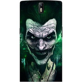 Oyehoye OnePlus One Mobile Phone Back Cover With Joker - Durable Matte Finish Hard Plastic Slim Case