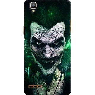 Oyehoye Oppo F1 Mobile Phone Back Cover With Joker - Durable Matte Finish Hard Plastic Slim Case