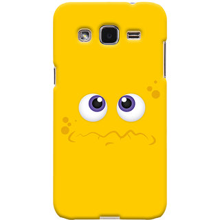 Oyehoye Samsung Galaxy J2 Mobile Phone Back Cover With Smiley Expressions Style - Durable Matte Finish Hard Plastic Slim Case