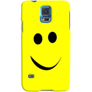 Oyehoye Samsung Galaxy S5 Mobile Phone Back Cover With Smiley Expressions Style - Durable Matte Finish Hard Plastic Slim Case