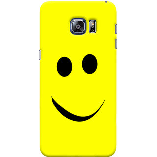 Oyehoye Samsung Galaxy S6 Edge Plus Mobile Phone Back Cover With Smiley Expressions Style - Durable Matte Finish Hard Plastic Slim Case