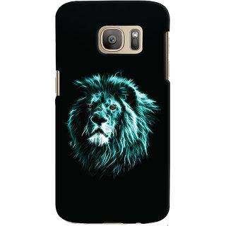 Oyehoye Samsung Galaxy S7 Edge Mobile Phone Back Cover With Lion Animal Art - Durable Matte Finish Hard Plastic Slim Case