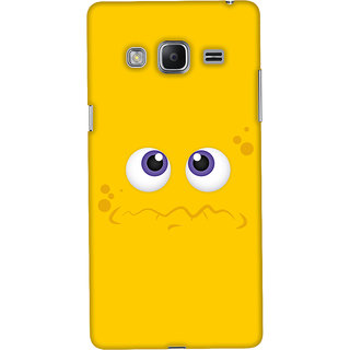 Oyehoye Samsung Galaxy Z3 Mobile Phone Back Cover With Smiley Expressions Style - Durable Matte Finish Hard Plastic Slim Case
