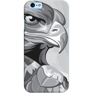 Oyehoye   6S Mobile Phone Back Cover With Animal Modern Art - Durable Matte Finish Hard Plastic Slim Case