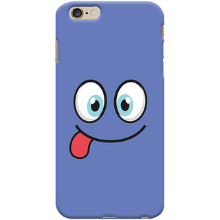 Oyehoye Apple iPhone 6S Plus Mobile Phone Back Cover With Smiley Expressions Style - Durable Matte Finish Hard Plastic Slim Case