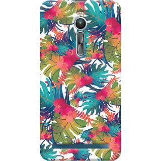 Oyehoye Asus Zenfone 2 ZE550ML Mobile Phone Back Cover With Colourful Abstract Art - Durable Matte Finish Hard Plastic Slim Case