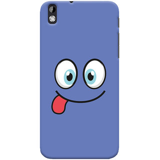 Oyehoye HTC Desire 816 / 816G Dual Sim Mobile Phone Back Cover With Smiley Expressions Style - Durable Matte Finish Hard Plastic Slim Case