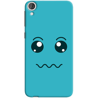 Oyehoye HTC Desire 820 Dual Sim Mobile Phone Back Cover With Smiley Expressions Style - Durable Matte Finish Hard Plastic Slim Case