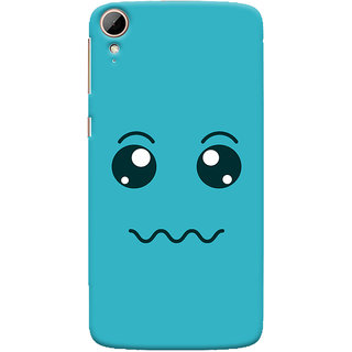 Oyehoye HTC Desire 828 / Dual Sim Mobile Phone Back Cover With Smiley Expressions Style - Durable Matte Finish Hard Plastic Slim Case