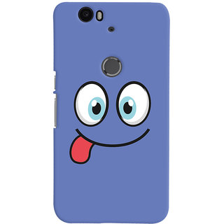 Oyehoye Huawei Google Nexus 6P Mobile Phone Back Cover With Smiley Expressions Style - Durable Matte Finish Hard Plastic Slim Case