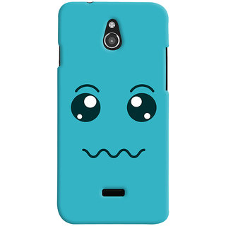 Oyehoye Infocus M2 Mobile Phone Back Cover With Smiley Expressions Style - Durable Matte Finish Hard Plastic Slim Case