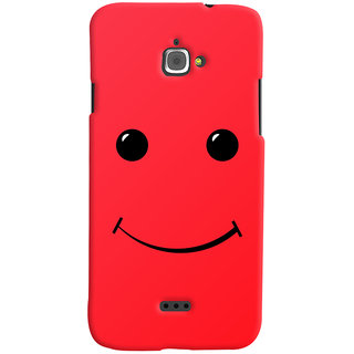 Oyehoye Infocus M350 Mobile Phone Back Cover With Smiley Expressions Style - Durable Matte Finish Hard Plastic Slim Case
