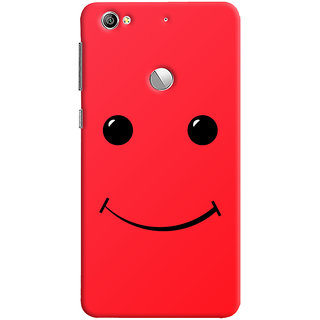 Oyehoye LeEco LE1S Mobile Phone Back Cover With Smiley Expressions Style - Durable Matte Finish Hard Plastic Slim Case