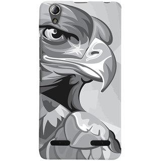 Oyehoye Lenovo A6000 Plus Mobile Phone Back Cover With Animal Modern Art - Durable Matte Finish Hard Plastic Slim Case