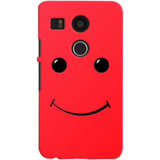 Oyehoye LG Google Nexus 5X Mobile Phone Back Cover With Smiley Expressions Style - Durable Matte Finish Hard Plastic Slim Case