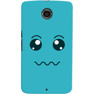 Oyehoye Motorola Google Nexus 6 Mobile Phone Back Cover With Smiley Expressions Style - Durable Matte Finish Hard Plastic Slim Case