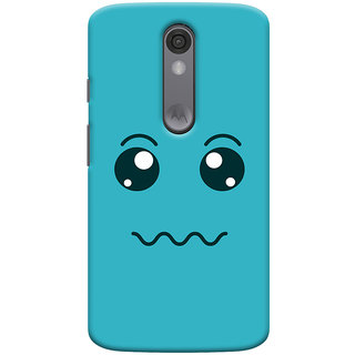 Oyehoye Motorola Moto X Force Mobile Phone Back Cover With Smiley Expressions Style - Durable Matte Finish Hard Plastic Slim Case