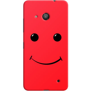 Oyehoye Microsoft Lumia 550 Mobile Phone Back Cover With Smiley Expressions Style - Durable Matte Finish Hard Plastic Slim Case