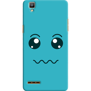 Oyehoye Oppo F1 Mobile Phone Back Cover With Smiley Expressions Style - Durable Matte Finish Hard Plastic Slim Case