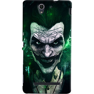 Oyehoye Sony Xperia C3 / Dual Sim Mobile Phone Back Cover With Joker - Durable Matte Finish Hard Plastic Slim Case