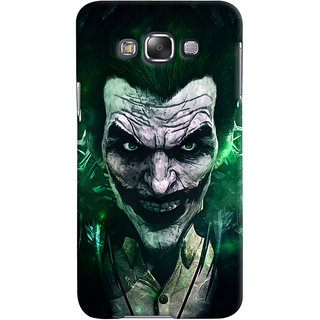 Oyehoye Samsung Galaxy E7 Mobile Phone Back Cover With Joker - Durable Matte Finish Hard Plastic Slim Case