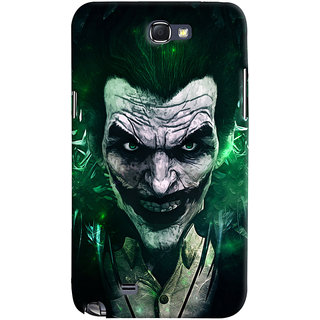 Oyehoye Samsung Galaxy Note 2 Mobile Phone Back Cover With Joker - Durable Matte Finish Hard Plastic Slim Case