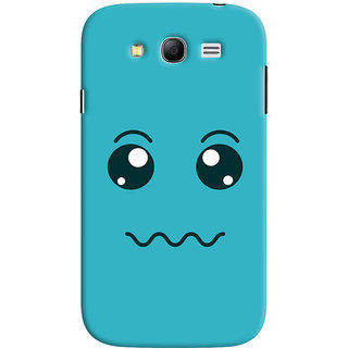 Oyehoye Samsung Galaxy Grand Neo / NEO GT Mobile Phone Back Cover With Smiley Expressions Style - Durable Matte Finish Hard Plastic Slim Case