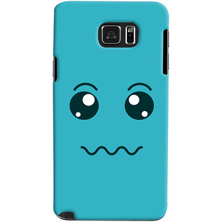 Oyehoye Samsung Galaxy Note 5 Dual Sim / Edge Plus Mobile Phone Back Cover With Smiley Expressions Style - Durable Matte Finish Hard Plastic Slim Case