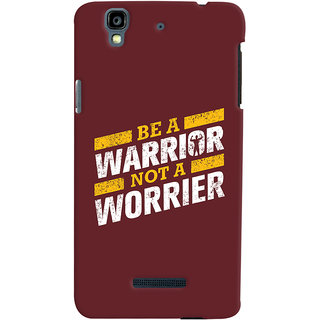 Oyehoye Micromax Yureka Plus Mobile Phone Back Cover With Motivational Quote - Durable Matte Finish Hard Plastic Slim Case